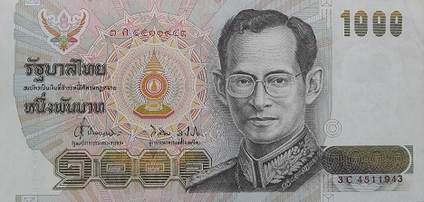14th Series 1000 Baht Thai Banknotes front