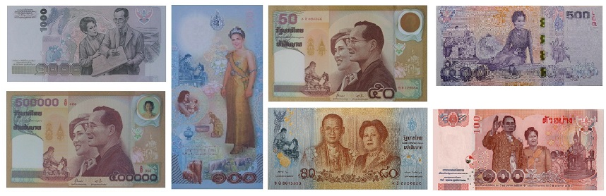 Commemorative banknotes Queen Sirikit of King Rama 9